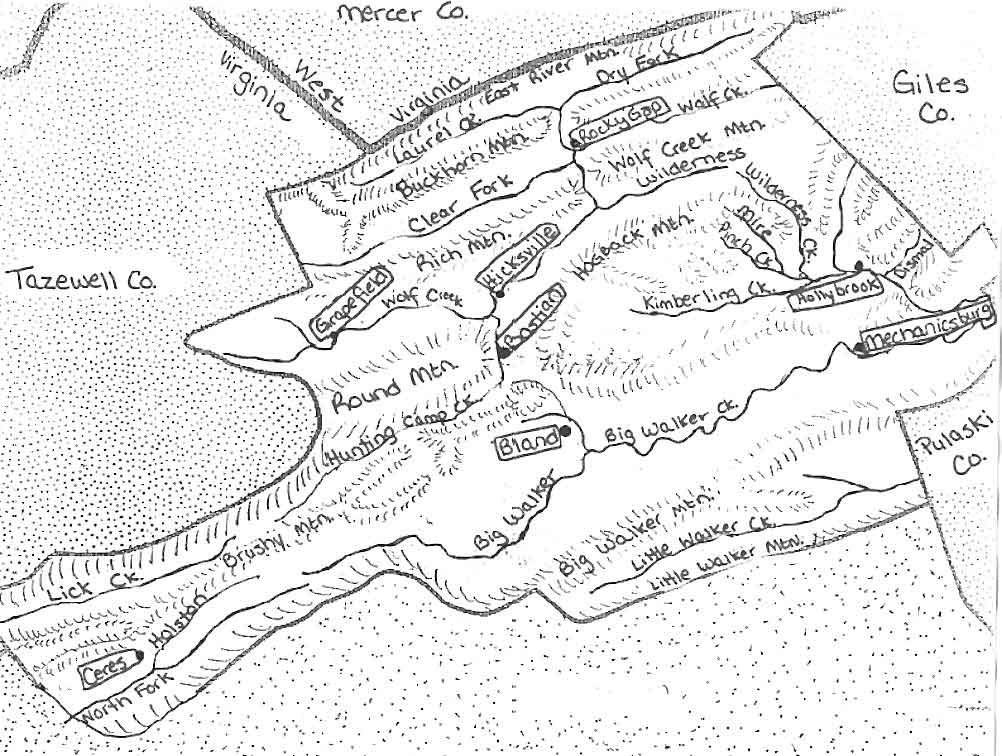 Map Of Virginia Counties 1800.Virginia County Map